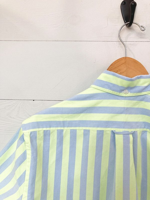 Gitman Vintage Shirt - Yellow Oxford Wide Stripe