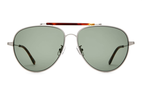 Unisex CRAP EYEWEAR The Road Crue Sunglasses - Brushed Silver/Dark Tortoise