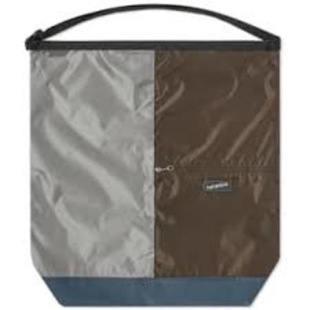 Nanamica Large Utility Shoulder Bag - Grey/Brown