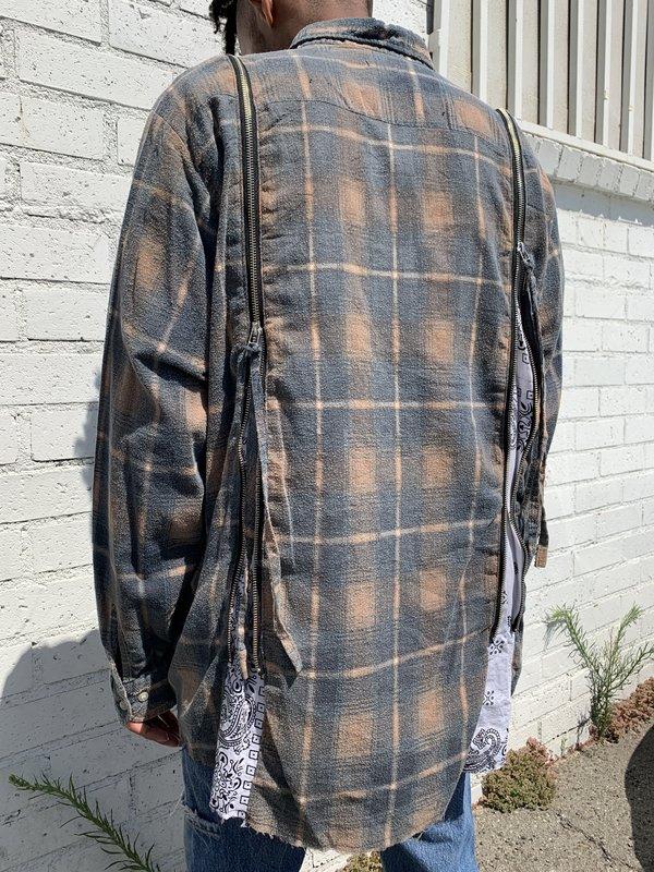 Old Park Bandana Wide Flannel Shirt