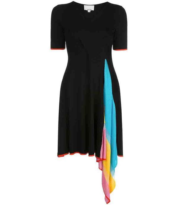 I am Chen Cross Cloth Dress - Black