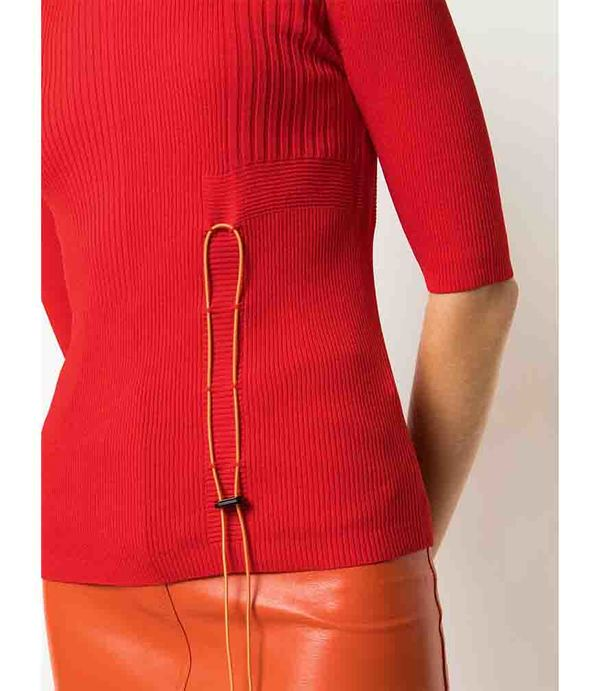 I am Chen Drawstring Top - Red
