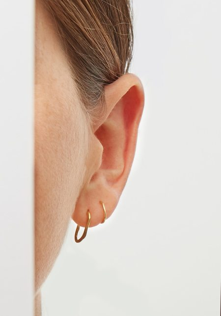 Maria Black Lake Twirl Ear Cuff - Gold