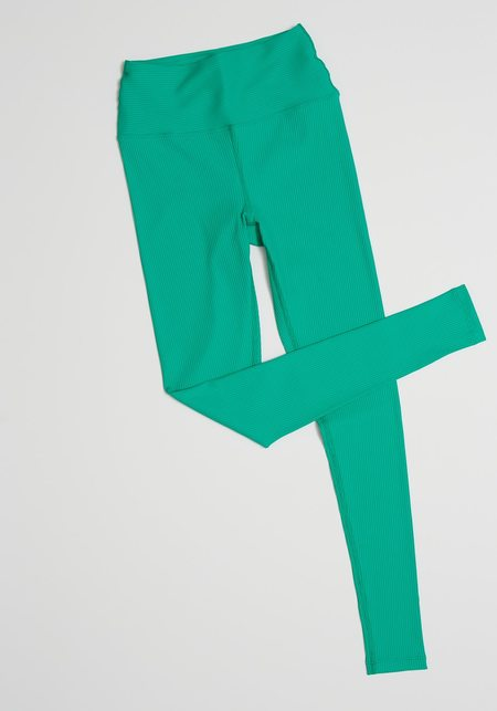 Year Of Ours High High Ribbed Legging - Green