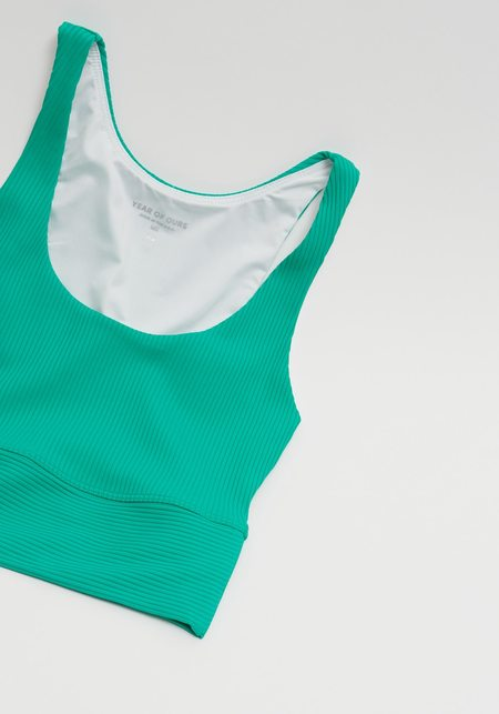 Year Of Ours Ribbed Gym Bra - Green