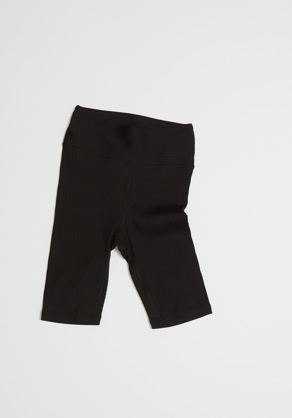 Year of Ours Ribbed Biker Shorts - Black