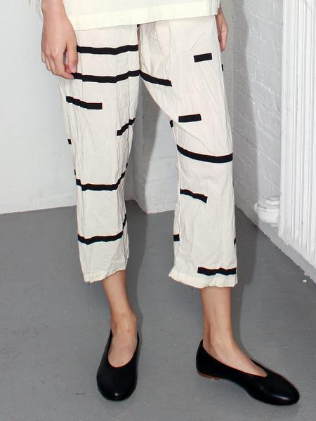 Uzi NYC Pants - Cream Broken