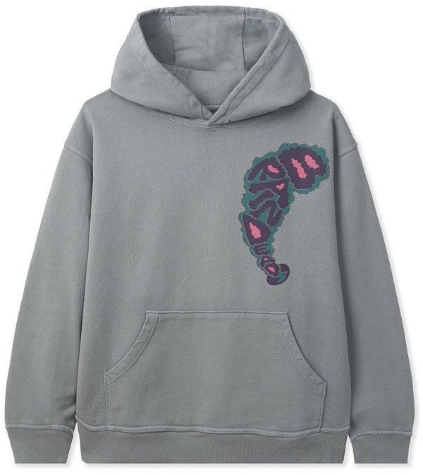 Brain Dead Will Sweeney Wizard Print Hooded Sweatshirt - Slate Grey