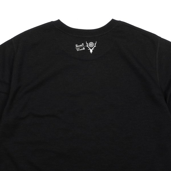 South2 West8 SONGBIRD CREW NECK TEE - BLACK