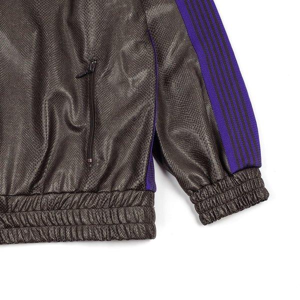 Needles Synthetic Leather/Python Track Jacket - Grey