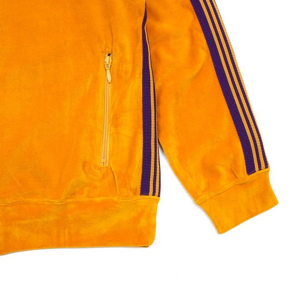 Needles Velour Rib Collar Track Jacket - Mustard