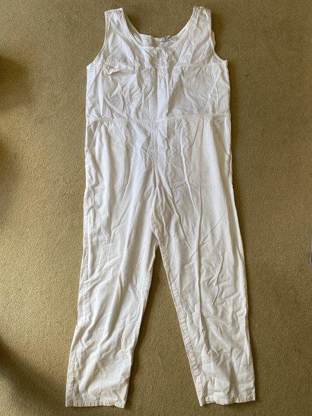 WOLF & GYPSY VINTAGE Cotton Jumpsuit - White
