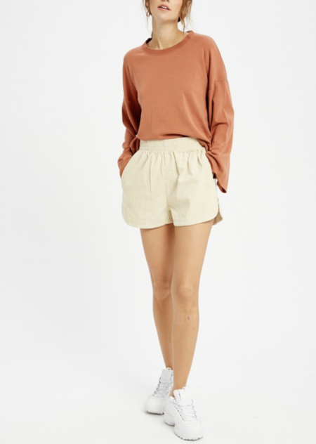 Wishlist Round Neck Longsleeve - Clay