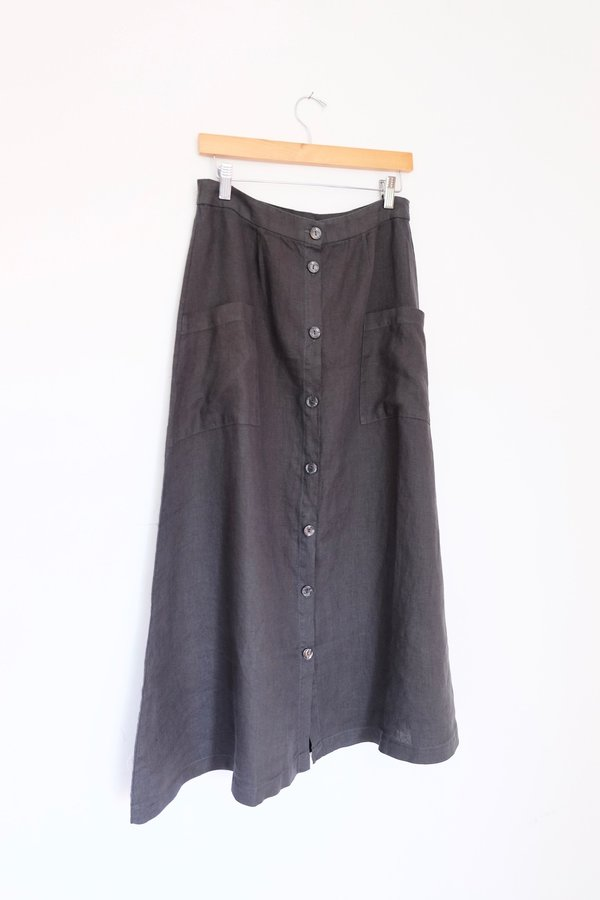 Filosofia Lily Button Down Skirt - Ink
