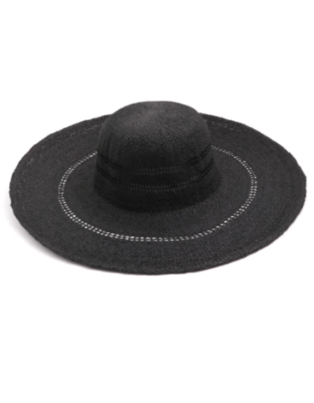 Persons Wide Brim Floppy Sunhat - Black