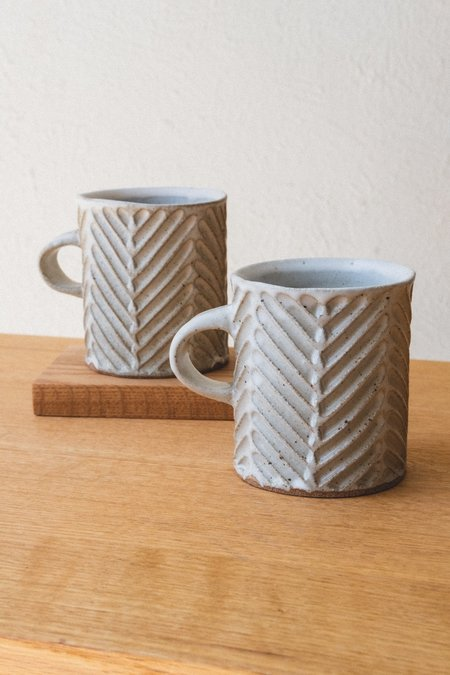Mt Washington Pottery CHEVRON MUG