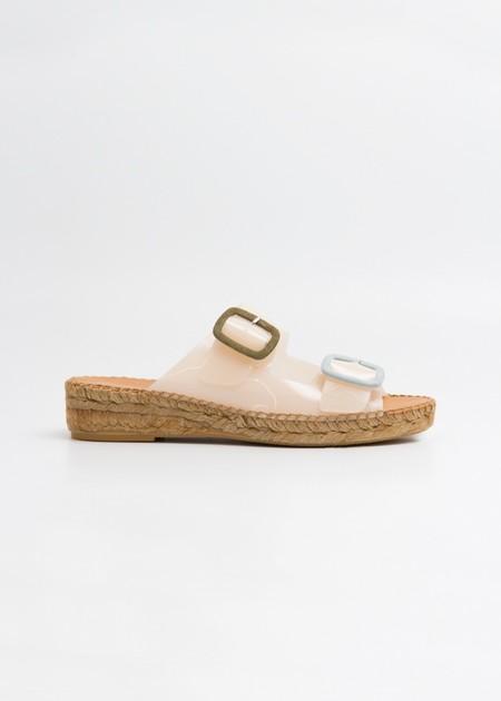 Naguisa Bruma Two Strap Slide - Nude/Multi