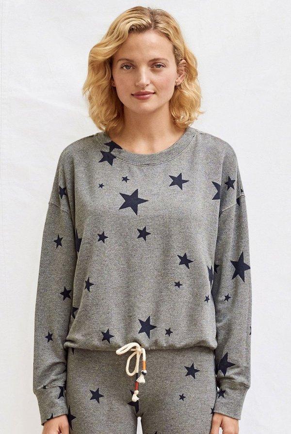 Sundry Stars Cinched Sweatshirt - Gray