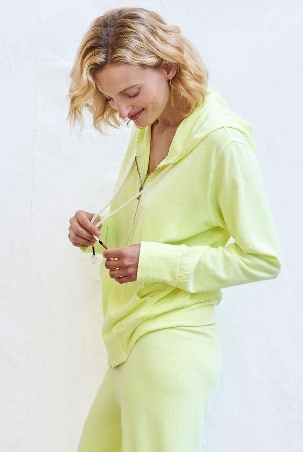 Sundry Zip Hoodie - Pigment Pop Lime