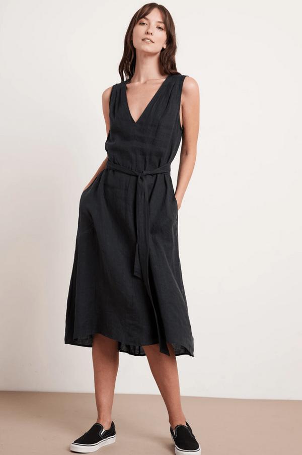Velvet Harmony Dress - Black