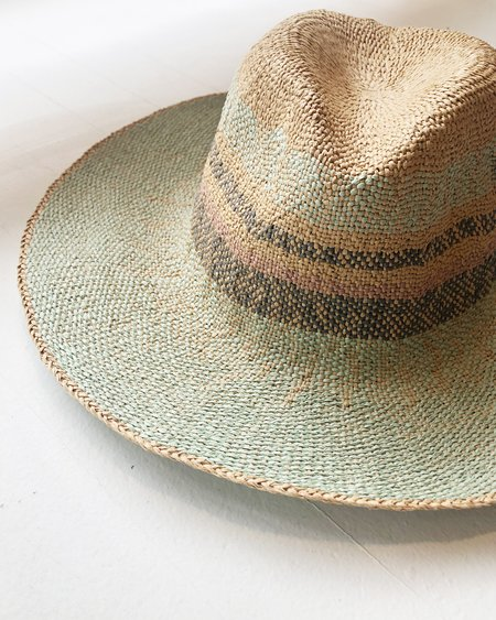 Persons Striped Straw Fedora