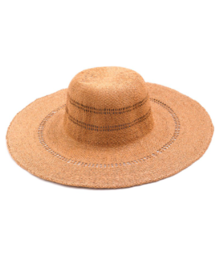 Persons Wide Brim Floppy Sunhat - Natural