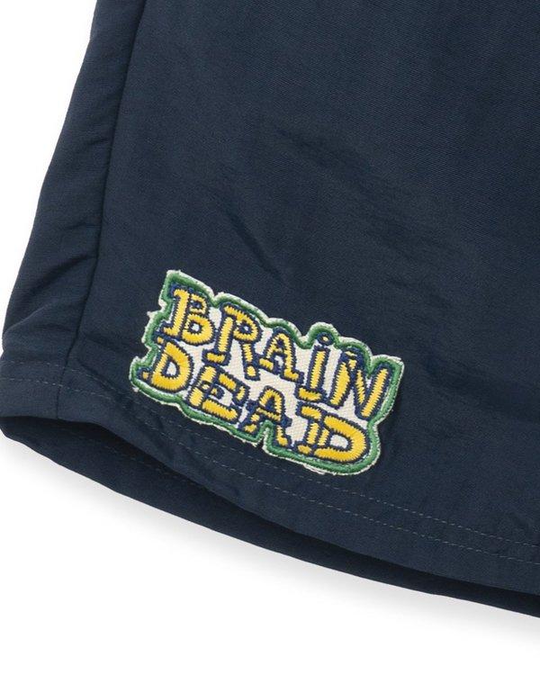 Brain Dead Mushroom Patch Nylon Beach Short - Navy