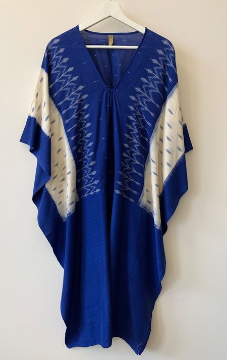 Two Mediterranean Front Caftan - Blue/White