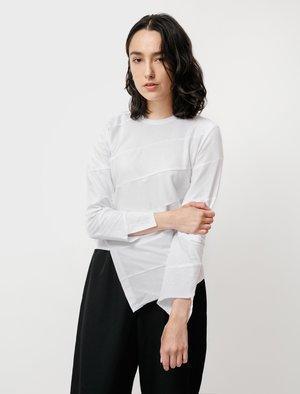 Comme des Garçons Diagonal Patchwork T-Shirt - White