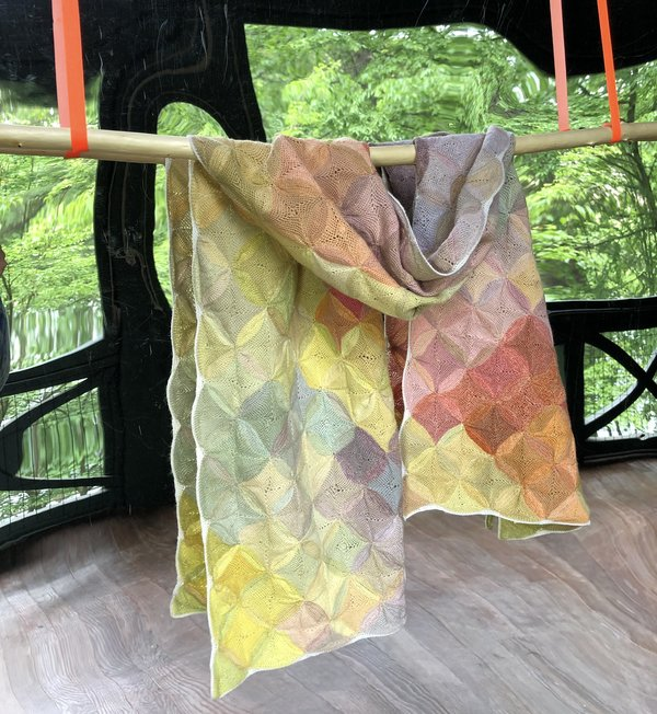 Sophie Digard Wool Scarf - Colorful Pattern