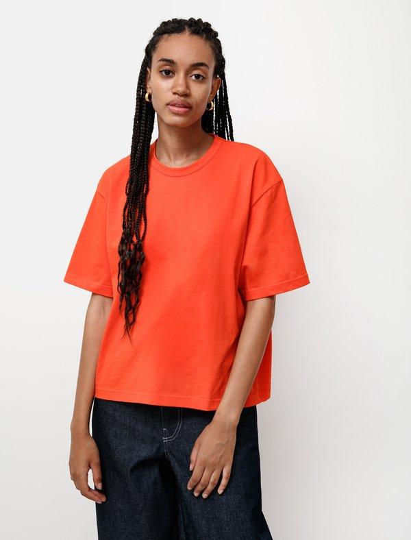 Studio Nicholson Lee Mercerized T-Shirt - Tomato