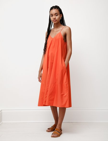 Studio Nicholson Oahu Poplin Dress - Tomato