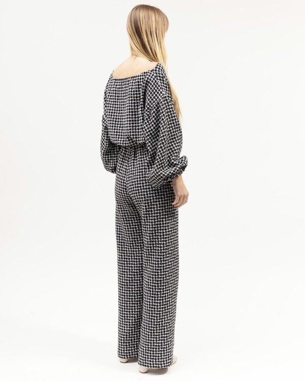 BEFORE MARCH Louie Crop - Houndstooth