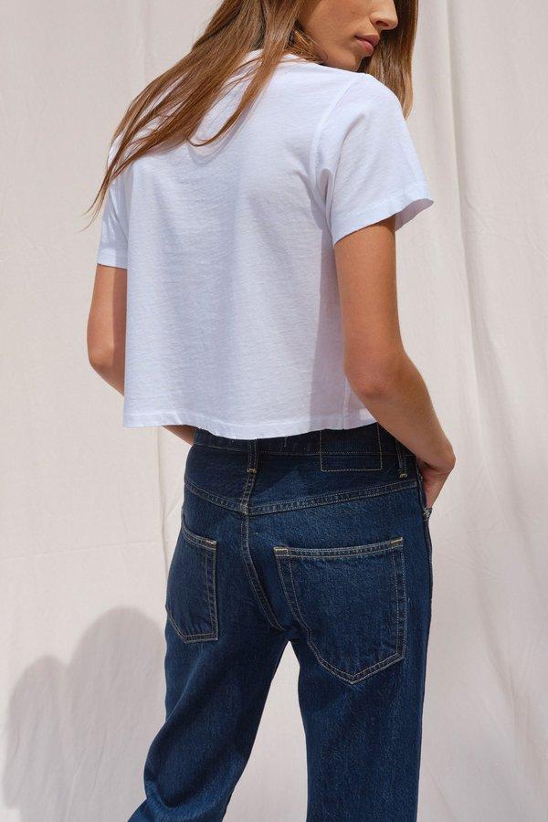 Amo denim Loverboy w/Hem High Rise Jeans - Indie Blue