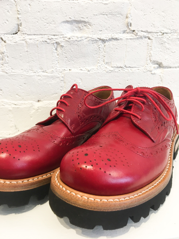 Cappelletti KK Derby Shoes - Red