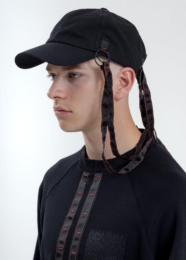 Komakino Baseball Cap With Tape - Black