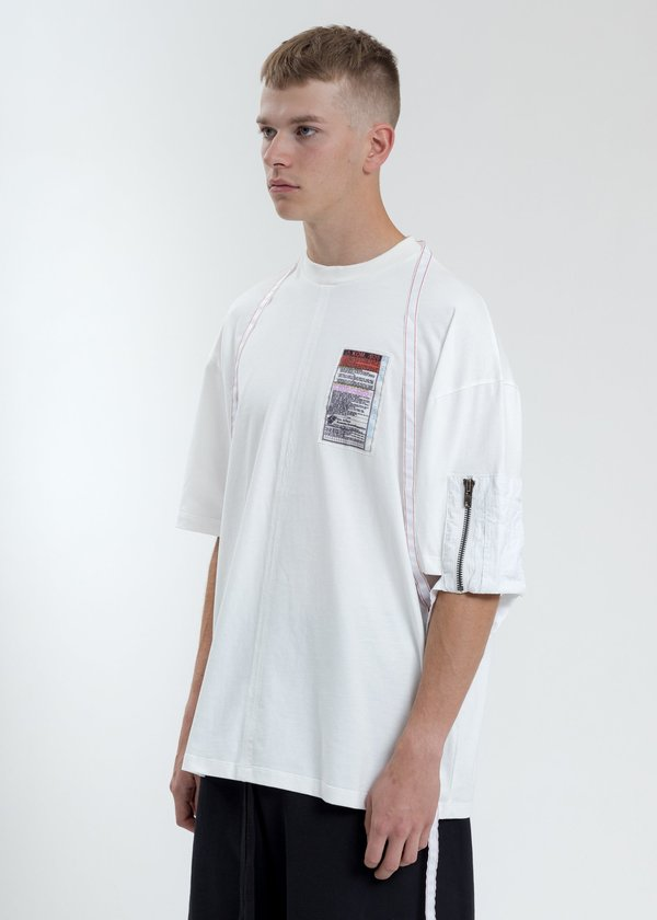 Komakino Green Loose Fit T-Shirt With Nylon Pocket And Tape