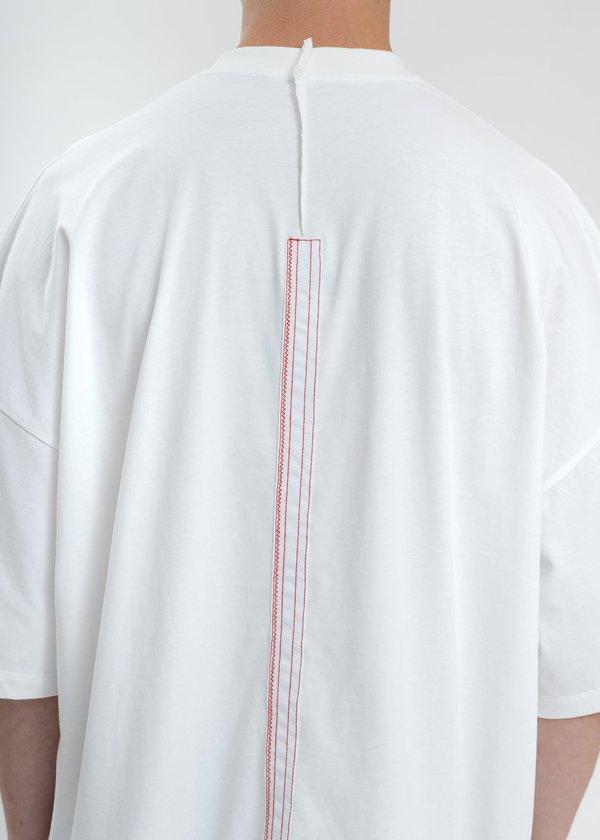 Komakino Oversized T-Shirt With Nylon Pocket - White
