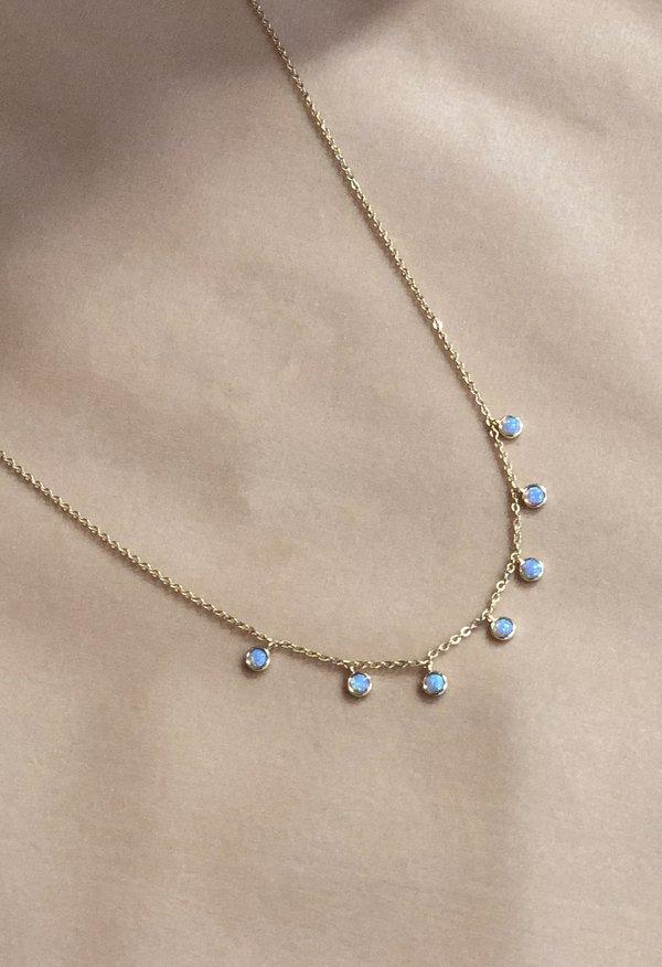 Nicole Kwon Concept Store Opal Dangle Necklace - 14k Gold Vermeil