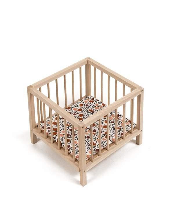 Kids Minikane Doll Wooden Playpen