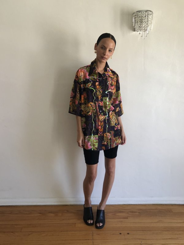 Collina Strada Short Sleeve Button Up - Sunny Sequin