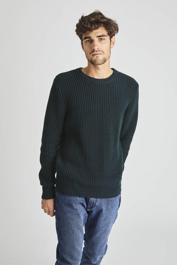 Rollas Organic Crew Knit - Trade Green