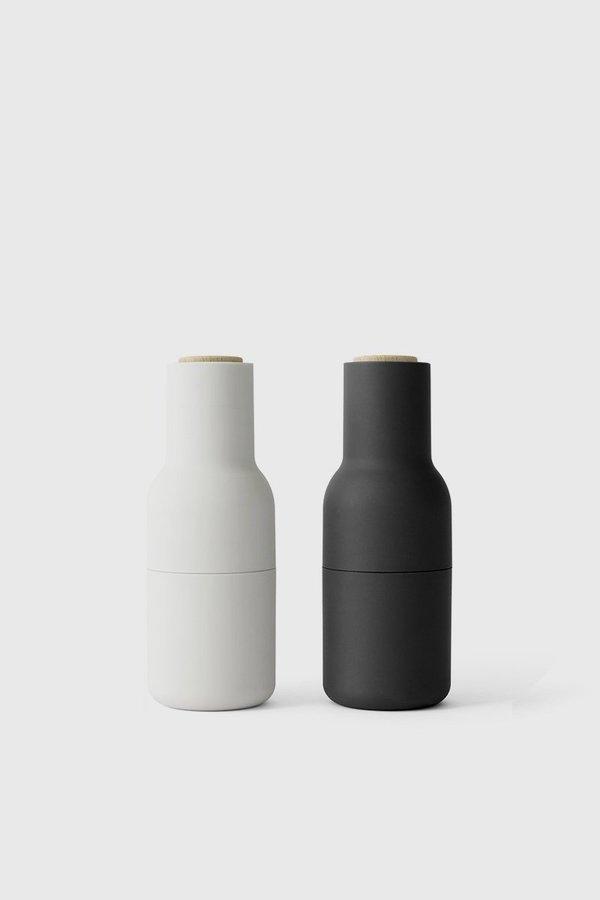 Menu Bottle Grinder 2-Pack Beech Lid - Ash/Carbon