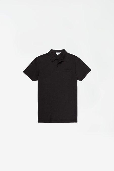 Sunspel Short Sleeve Riviera Polo - Black