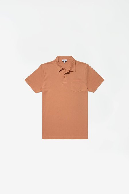 Sunspel Short Sleeve Riviera Polo - Clay