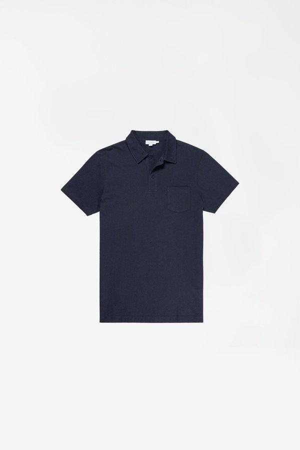 Sunspel Short Sleeve Riviera Polo - Navy