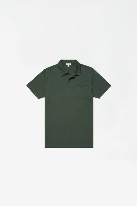 Sunspel Short Sleeve Riviera Polo - Pine
