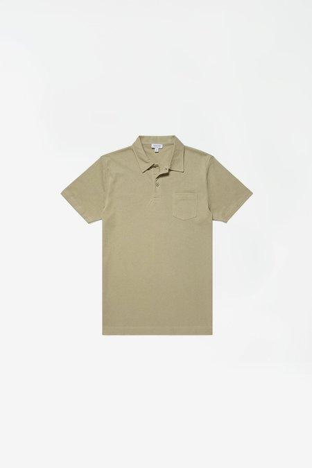 Sunspel Short Sleeve Riviera Polo - Pistachio