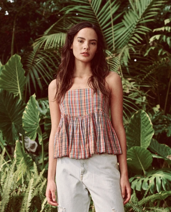 The Great. The Dainty Cami - Midsummer Plaid