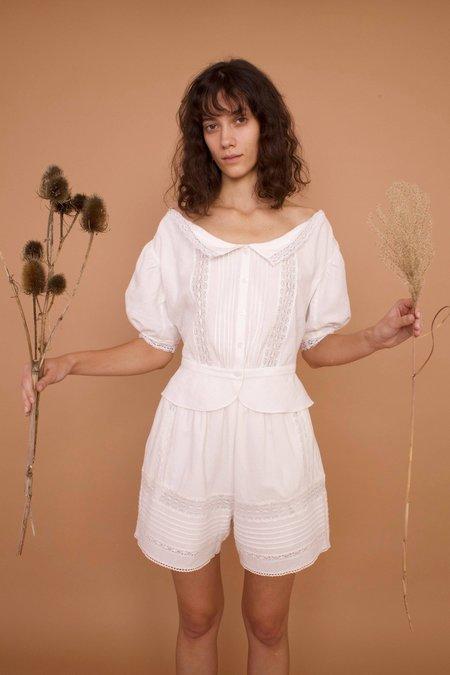 MEADOWS MALLOW SHIRT - WHITE